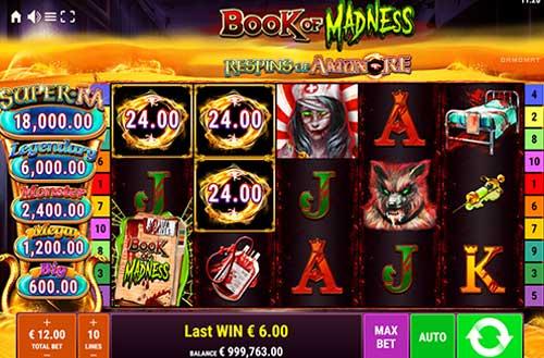 Book of Madness Respins of AmunRe Videoslot Screenshot