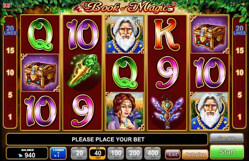 online casino video poker book of magic