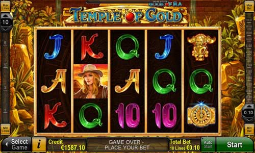 Book of Ra Temple of Gold slot free play demo is not available.