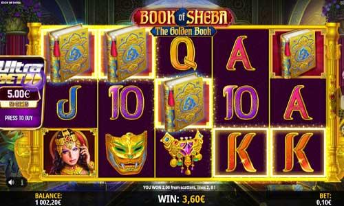Book of Sheba Videoslot Screenshot