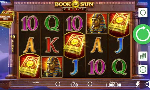 Book of Sun Choice Videoslot Screenshot