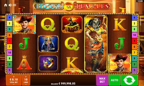 Books and Temples Videoslot Screenshot