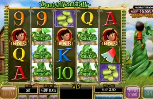 Bounty of the Beanstalk Videoslot Screenshot