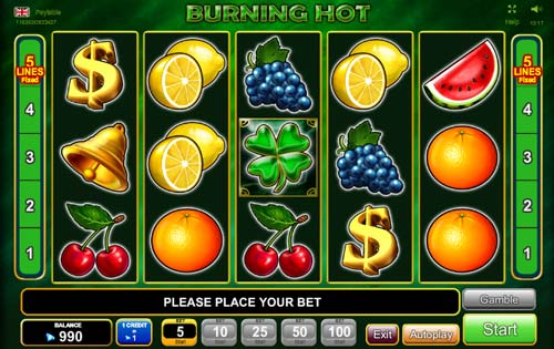 Burning Hot 6 Reels slot free play demo