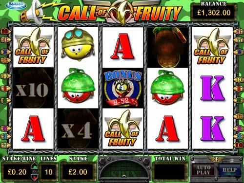 Call of Fruity Videoslot Screenshot