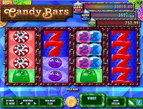 Candy Bars Videoslot Screenshot