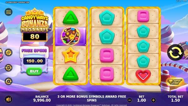 Candyways Bonanza Megaways Videoslot Screenshot