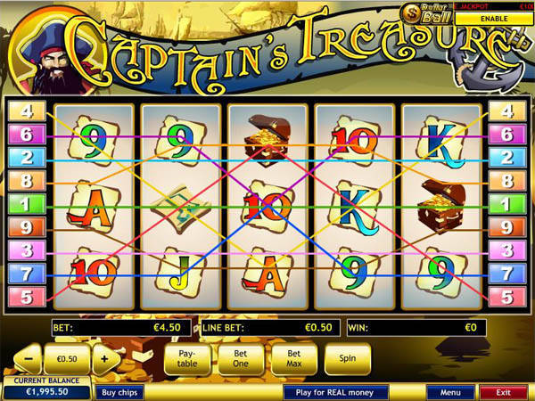 Captains Treasure slot