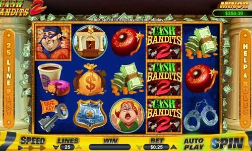 Cash Bandits 2 Videoslot Screenshot
