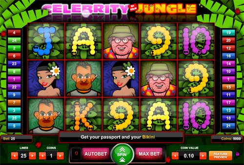 Celebrity in the Jungle slot free play demo