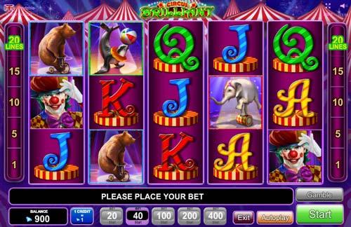 Circus Brilliant slot free play demo