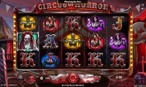 Circus of Horror Videoslot Screenshot