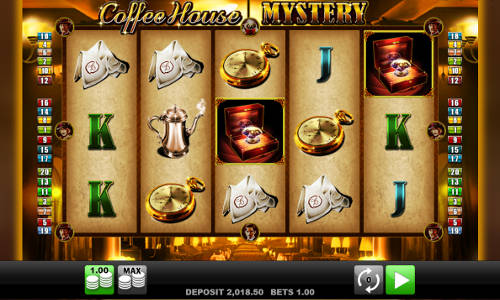 Coffee House Mystery Videoslot Screenshot