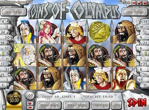 Coins of olympus rival casino slots zero