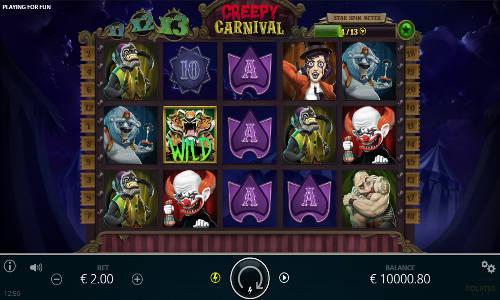 Creepy Carnival slot free play demo