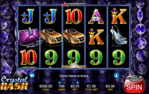 Uber crystal cash ainsworth slot game buffet players earn
