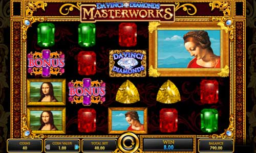 Da Vinci Diamonds Masterworks Videoslot Screenshot