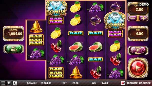 Diamond Cascade Videoslot Screenshot