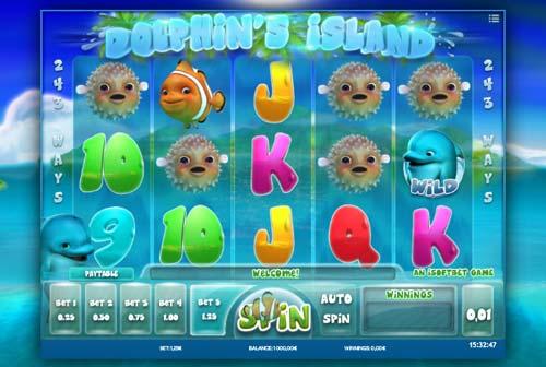 Dolphins Island Videoslot Screenshot