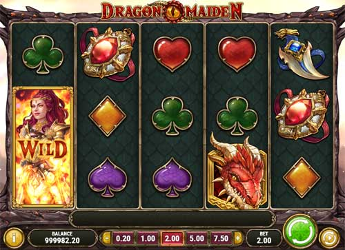 Dragon Maiden Videoslot Screenshot