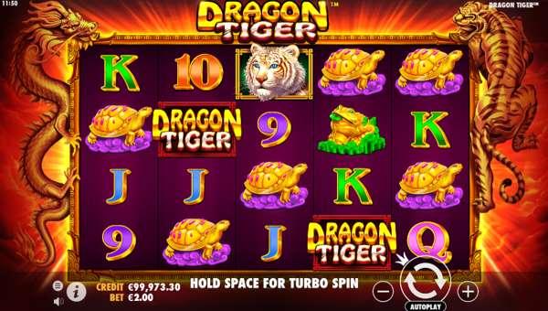 Dragon Tiger Videoslot Screenshot