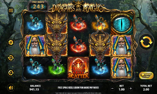 dragons and magic slot overview and summary