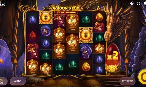 Dragons Fire Megaways Videoslot Screenshot