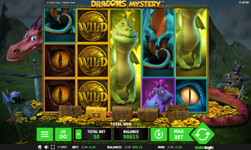 Dragons Mystery Videoslot Screenshot