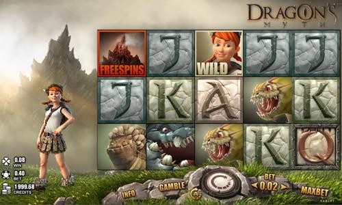 Dragons Myth Videoslot Screenshot