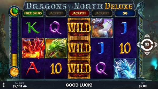 Dragons of the North Deluxe Videoslot Screenshot