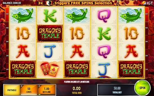 Dragons Temple Videoslot Screenshot