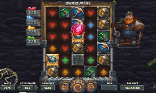 Dwarf Mine Videoslot Screenshot