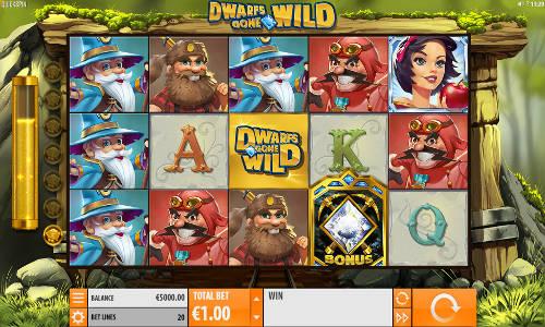 Dwarfs Gone Wild Videoslot Screenshot