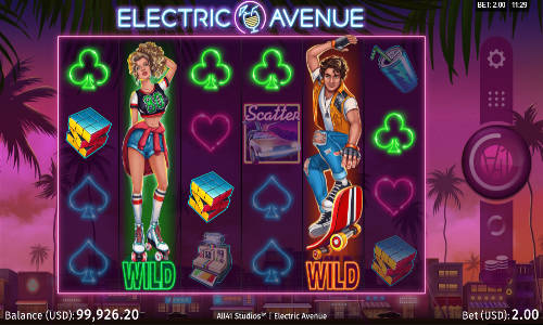 Electric Avenue Videoslot Screenshot