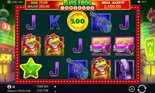 Elvis Frog in Vegas Videoslot Screenshot