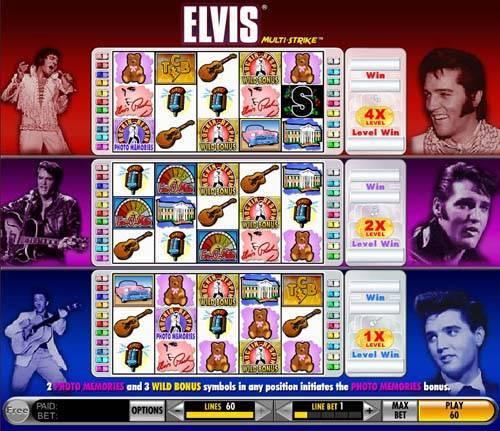 Elvis - Multistrike slot free play demo