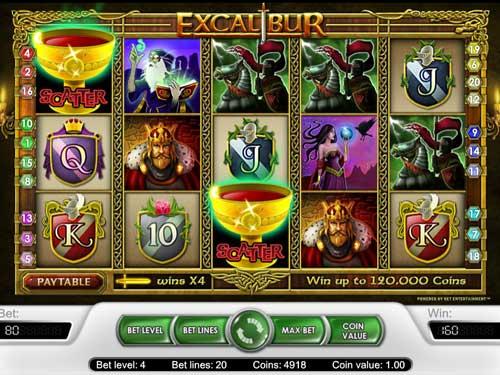 Excalibur Videoslot Screenshot