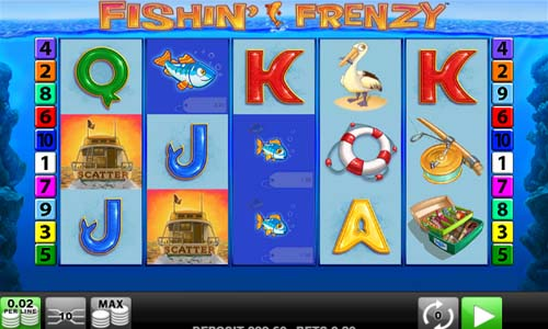 Fishin Frenzy Videoslot Screenshot
