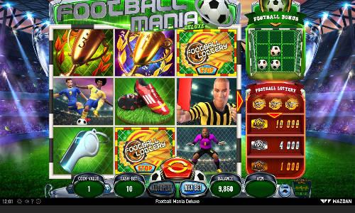 Football Mania Deluxe Videoslot Screenshot