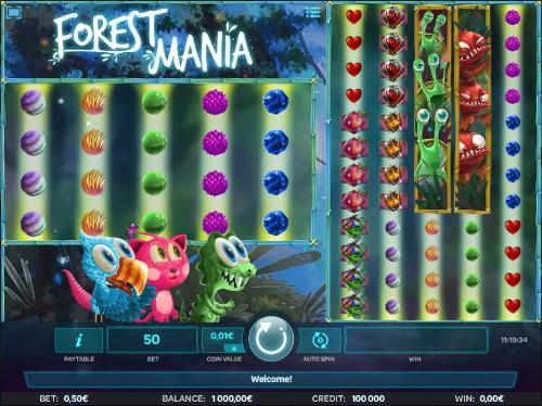 Forest Mania Videoslot Screenshot