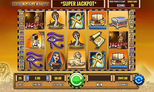 Fortunes of Egypt Videoslot Screenshot