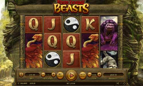 Four Divine Beasts Videoslot Screenshot