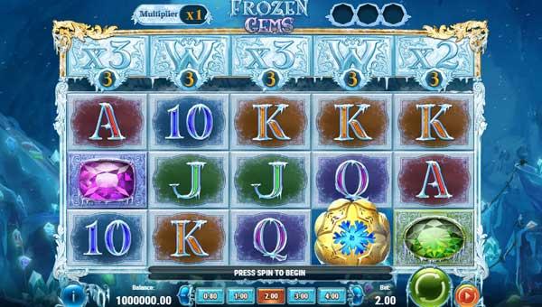 Frozen Gems Videoslot Screenshot