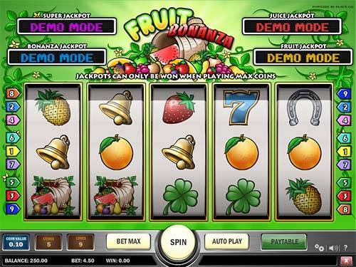 Fruit Bonanza Videoslot Screenshot