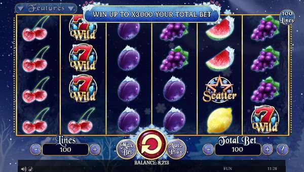 Fruits On Ice Videoslot Screenshot