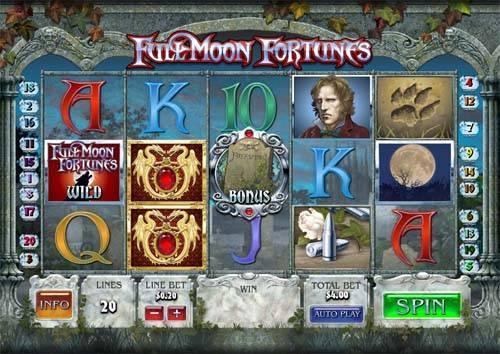 Full Moon Fortunes Videoslot Screenshot