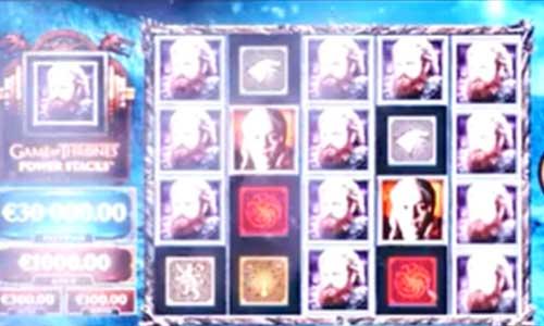 Game of Thrones Power Stacks Videoslot Screenshot