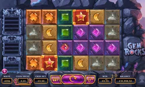 Gem Rocks Videoslot Screenshot