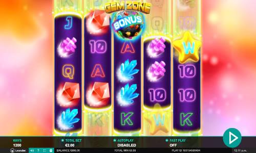 Gem Zone Videoslot Screenshot