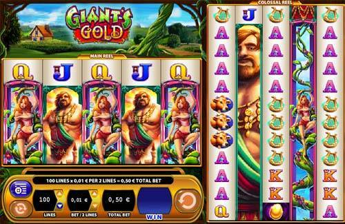 Giants Gold Videoslot Screenshot